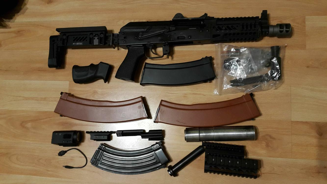 Ghk Ak74u With Zenit Externals And Extras Gas Rifles Airsoft Forums Uk