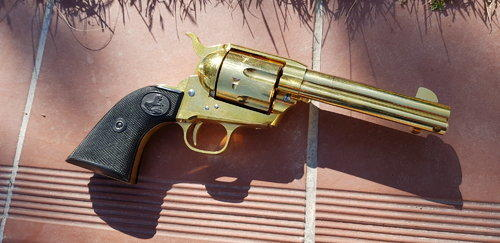Brass Prime Colt Single Action Army (SAA) Tanaka - Gas