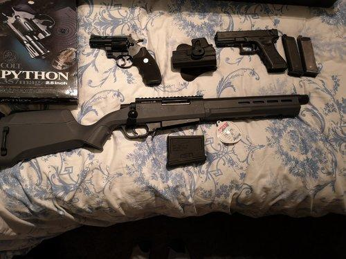 Ares striker as02 TM Glock g18c and TM colt phython 2 5 inch