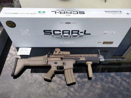 Tokyo Marui NGRS SCAR-L Dark Earth with accessories